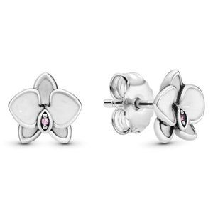 🔥Pandora🔥 White Orchids Stud Earrings